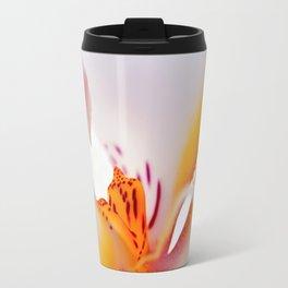 Orhid white macro 244 Travel Mug