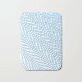 Whisker Pattern - Light Blue & White #285 Bath Mat