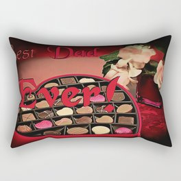 Best Dad Ever! Sweets and roses for most awesome Fathers, Daddy's day gift design Rectangular Pillow