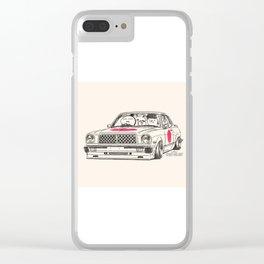Crazy Car Art 0181 Clear iPhone Case