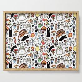 Kawaii Ghibli Doodle Serving Tray