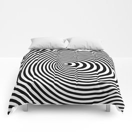 Vortex, optical illusion black and white Comforters