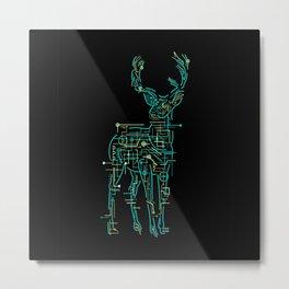 Electric Deer Metal Print