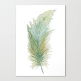 Wanderlusting Feather Canvas Print