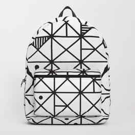 Monochrome Geometric 02 Backpack