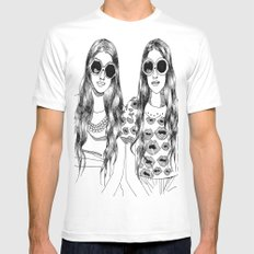 two'fashions girls White SMALL Mens Fitted Tee
