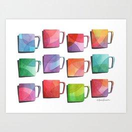 Coffee Mugs - Rainbow Colors Art Print