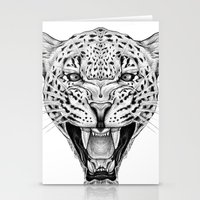 leopard Stationery Cards featuring Leopard by Libby Watkins Illustration