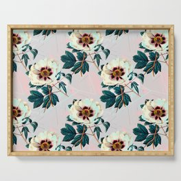 Flowery blooming with geometric Serving Tray