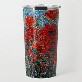 Wild Grass and Poppies Pollock Inspiration Travel Mug