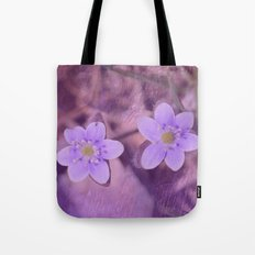 Purple Spring Flowers Tote Bag