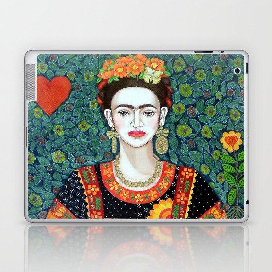 Frida, queen of hearts closer II Laptop & iPad Skin