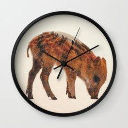 Little Ones: Wild Boar Wall Clock