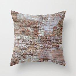 Venice ancient brick wall Throw Pillow