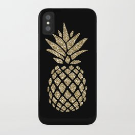 Gold Glitter Pineapple iPhone Case