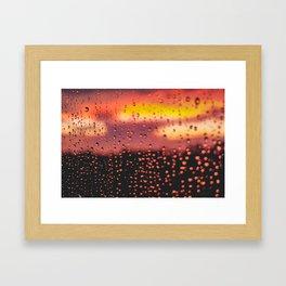 Rainy, Cozy Sunset Framed Art Print