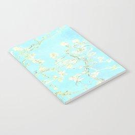 Vincent Van Gogh : almond blossoms Aqua Blue Notebook