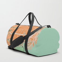 Buenos Aires city map orange Duffle Bag