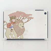 onward iPad Cases featuring Onward Feline Steed! by PaperPanda Books