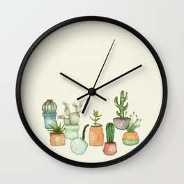 Cactus and Succulent Wall Clock