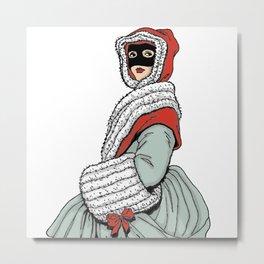 Masked Girl Metal Print