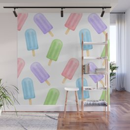 Popsicle Pattern Wall Mural