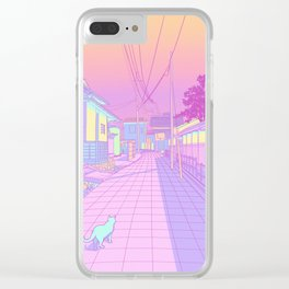 Kyoto Cats Clear iPhone Case