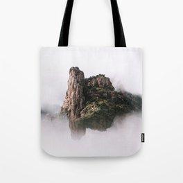 Fantasy Floating Mountain Tote Bag
