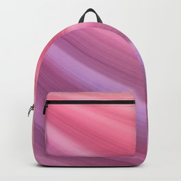 Elegant Purple and Peach Wave Pattern Backpack