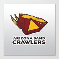 nfl Canvas Prints featuring Arizona Sandcrawlers - NFL by Steven Klock