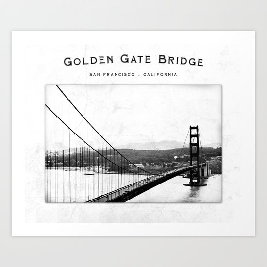 Golden Gate Bridge - San Francisco Art Print