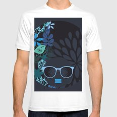 Afro Diva : Teal Mens Fitted Tee White MEDIUM