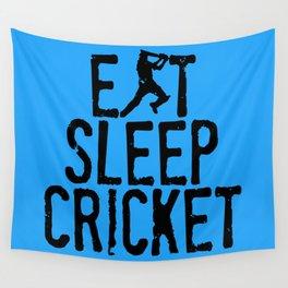 Eat Sleep Cricket Wall Tapestry