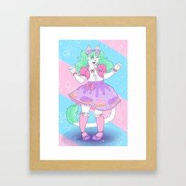 Donut Girl Framed Art Print