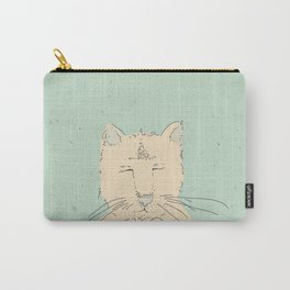 Cartoon cute cat think Carry-All Pouch