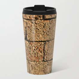 old wall of cinder blocks Travel Mug