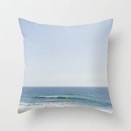 California Beach Day Throw Pillow