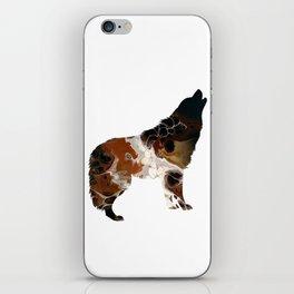 Brown Fluid Wolf Image Art Design iPhone Skin