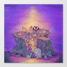 In the mushroom cove Canvas Print