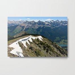 Mountain cornice with snow Metal Print