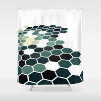 california Shower Curtains featuring California by Bakmann Art