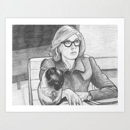 Good Cat's Daydreams Sometimes Involve Helping Diane Lockhart on Her Latest Pro-Bono Case Art Print