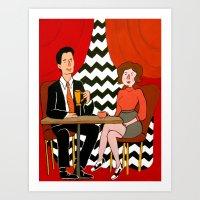 twin peaks Art Prints featuring Twin Peaks by Jen Berry
