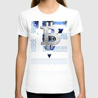 greece T-shirts featuring bitcoin Greece by seb mcnulty