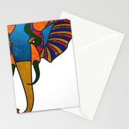 Primary Retro Elephant Stationery Cards