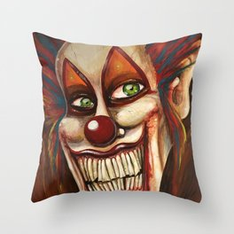 Gingles the clown Throw Pillow
