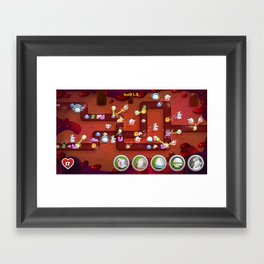 Tower Defense Framed Art Print