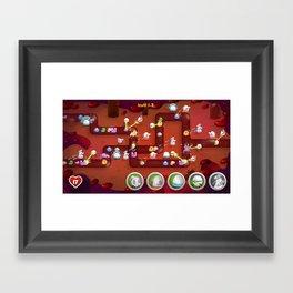 Tower Defense Framed Art Print