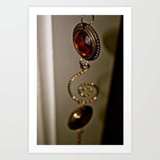 Hanging amber Art Print