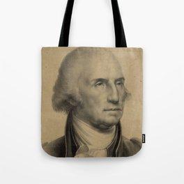 Vintage George Washington Portrait Illustration Tote Bag